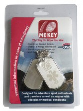 Medical ID Dog Tag Blister Pack