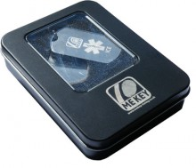 MEkey ICE Medical ID Dog Tag Presentation Tin