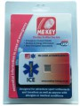 MEkey ICE Medical ID Card Blister Pack