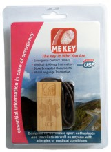 Wooden MEdical ID Tag Blister Pack