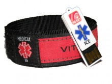 Medical ID Wristband Red (Large)
